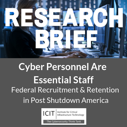 shutdown, government, essential staff, cybersecurity, congress, legislation, icit, institute for critical infrastructure technology, dlt, simon data
