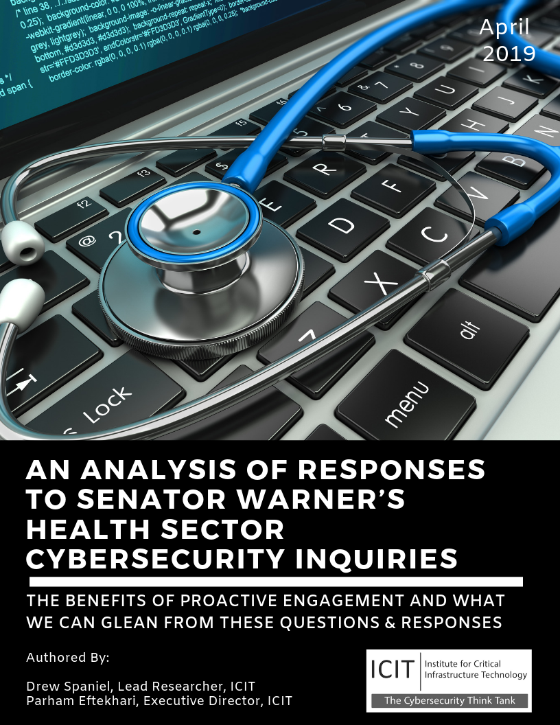 ICIT Brief - An Analysis of Responses to Senator Warner's Health Sector Cybersecurity Inquiries