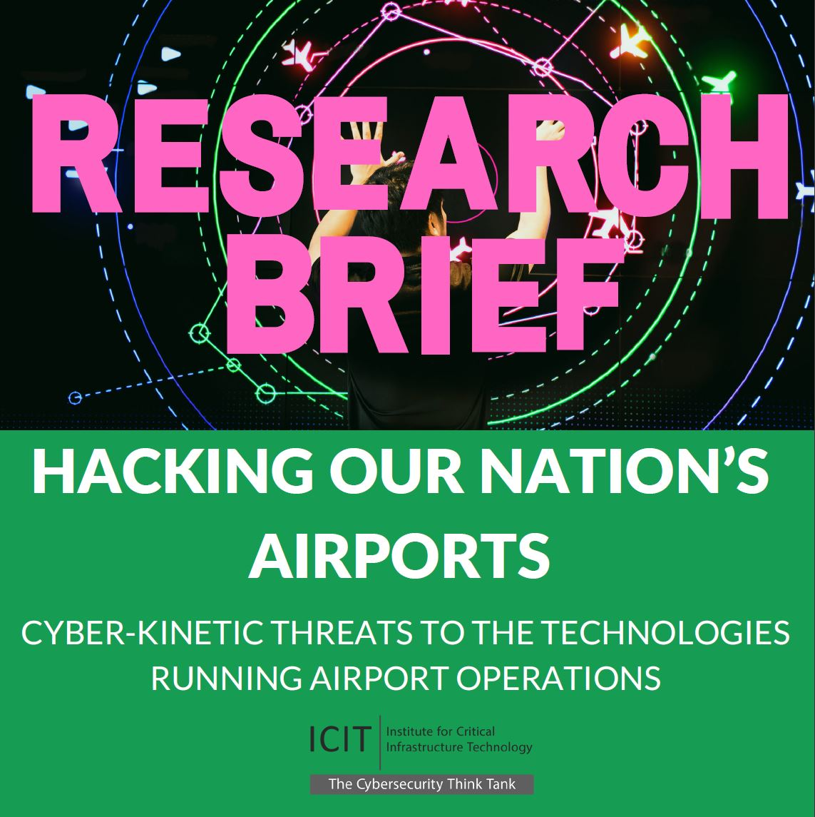 icit, institute for critical infrastructure technology, airport, faa, airplane